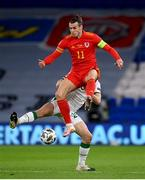 15 November 2020; Gareth Bale of Wales in action against Dara O'Shea of Republic of Ireland during the UEFA Nations League B match between Wales and Republic of Ireland at Cardiff City Stadium in Cardiff, Wales. Photo by Stephen McCarthy/Sportsfile