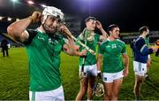 15 November 2020; Limerick players, from left, Aaron Gillane, David Reidy and Darragh O'Donovan after the Munster GAA Hurling Senior Championship Final match between Limerick and Waterford at Semple Stadium in Thurles, Tipperary. Photo by Brendan Moran/Sportsfile