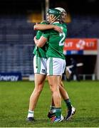 15 November 2020; Kyle Hayes, left, and Sean Finn of Limerick celebrate after during the Munster GAA Hurling Senior Championship Final match between Limerick and Waterford at Semple Stadium in Thurles, Tipperary. Photo by Brendan Moran/Sportsfile