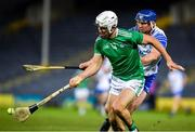 15 November 2020; Aaron Gillane of Limerick in action against Conor Prunty of Waterford during the Munster GAA Hurling Senior Championship Final match between Limerick and Waterford at Semple Stadium in Thurles, Tipperary. Photo by Ray McManus/Sportsfile