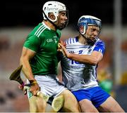 15 November 2020; Aaron Gillane of Limerick is tackled by Stephen Bennett of Waterford during the Munster GAA Hurling Senior Championship Final match between Limerick and Waterford at Semple Stadium in Thurles, Tipperary. Photo by Ray McManus/Sportsfile