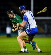15 November 2020; Peter Casey of Limerick in action against Conor Prunty of Waterford during the Munster GAA Hurling Senior Championship Final match between Limerick and Waterford at Semple Stadium in Thurles, Tipperary. Photo by Ray McManus/Sportsfile