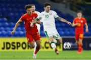 15 November 2020; Robbie Brady of Republic of Ireland in action against Ethan Ampadu of Wales during the UEFA Nations League B match between Wales and Republic of Ireland at Cardiff City Stadium in Cardiff, Wales. Photo by Gareth Everett/Sportsfile