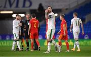 15 November 2020; Shane Duffy of Republic of Ireland following the UEFA Nations League B match between Wales and Republic of Ireland at Cardiff City Stadium in Cardiff, Wales. Photo by Stephen McCarthy/Sportsfile