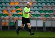15 November 2020; Referee Mel Kenny  during the TG4 All-Ireland Senior Ladies Football Championship Round 3 match between Galway and Monaghan at Páirc Seán Mac Diarmada in Carrick-on-Shannon, Leitrim. Photo by Sam Barnes/Sportsfile