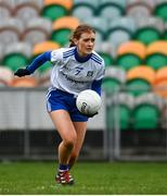 15 November 2020; Nicola Fahy of Monaghan during the TG4 All-Ireland Senior Ladies Football Championship Round 3 match between Galway and Monaghan at Páirc Seán Mac Diarmada in Carrick-on-Shannon, Leitrim. Photo by Sam Barnes/Sportsfile