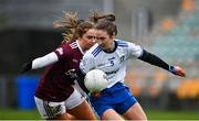 15 November 2020; Rosemary Courtney of Monaghan in action against Mairéad Seoighe of Galway during the TG4 All-Ireland Senior Ladies Football Championship Round 3 match between Galway and Monaghan at Páirc Seán Mac Diarmada in Carrick-on-Shannon, Leitrim. Photo by Sam Barnes/Sportsfile