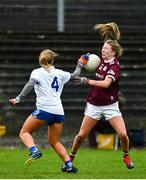 15 November 2020; Lynsey Noone of Galway in action against Aoife McAnespie of Monaghan during the TG4 All-Ireland Senior Ladies Football Championship Round 3 match between Galway and Monaghan at Páirc Seán Mac Diarmada in Carrick-on-Shannon, Leitrim. Photo by Sam Barnes/Sportsfile