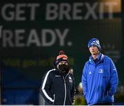16 November 2020; Edinburgh head coach Richard Cockerill and Leinster head coach Leo Cullen prior to the Guinness PRO14 match between Leinster and Edinburgh at the RDS Arena in Dublin. Photo by Harry Murphy/Sportsfile