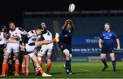 16 November 2020; Devin Toner of Leinster blocks a kick from Henry Pyrgos of Edinburgh during the Guinness PRO14 match between Leinster and Edinburgh at the RDS Arena in Dublin. Photo by Harry Murphy/Sportsfile