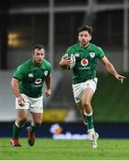 13 November 2020; Hugo Keenan, right, and Ed Byrne during the Autumn Nations Cup match between Ireland and Wales at Aviva Stadium in Dublin. Photo by David Fitzgerald/Sportsfile