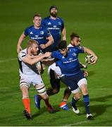 16 November 2020; Harry Byrne of Leinster is tackled by Andrew Davidson of Edinburgh during the Guinness PRO14 match between Leinster and Edinburgh at RDS Arena in Dublin. Photo by Ramsey Cardy/Sportsfile