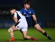 16 November 2020; Dan Gamble of Edinburgh is tackled by Dan Sheehan of Leinster during the Guinness PRO14 match between Leinster and Edinburgh at the RDS Arena in Dublin. Photo by Harry Murphy/Sportsfile