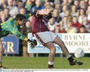 25 January 2004; Paul Martin, Westmeath, in action against Tomas O'Connor, Meath. O'Byrne Cup Final, Westmeath v Meath, Cusack Park, Mullingar, Co. Westmeath. Picture credit; David Maher / SPORTSFILE *EDI*