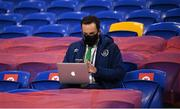 15 November 2020; Daniel Kelly, FAI communications executive, during the UEFA Nations League B match between Wales and Republic of Ireland at Cardiff City Stadium in Cardiff, Wales. Photo by Stephen McCarthy/Sportsfile