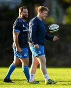 18 November 2020; James Tracy, right, and Michael Bent during Leinster Rugby squad training at UCD in Dublin. Photo by Harry Murphy/Sportsfile