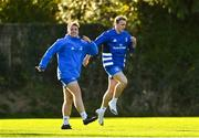 18 November 2020; Liam Turner, left, and Niall Comerford during Leinster Rugby squad training at UCD in Dublin. Photo by Harry Murphy/Sportsfile