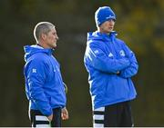 18 November 2020; Leinster senior coach Stuart Lancaster, left, and head coach Leo Cullen during Leinster Rugby squad training at UCD in Dublin. Photo by Harry Murphy/Sportsfile