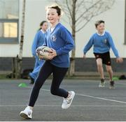 19 November 2020; Lucie Alatissiere in action during Leinster Rugby training at Gaelscoil Moshíológ in Gorey, Wexford. Photo by Matt Browne/Sportsfile