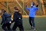 18 November 2020; Larissa Muldoon coaching during a Leinster Rugby After School Pop Up Club at DCU in Dublin. Photo by Piaras Ó Mídheach/Sportsfile