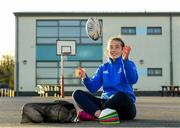 19 November 2020; Coach Daisy Earle during a Leinster Rugby kids training session at Gaelscoil Moshíológ in Gorey, Wexford. Photo by Matt Browne/Sportsfile