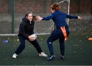 18 November 2020; Kaye Hayden during a Leinster Rugby After School Pop Up Club at DCU in Dublin. Photo by Piaras Ó Mídheach/Sportsfile