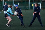 18 November 2020; Coach Larissa Muldoon during a Leinster Rugby After School Pop Up Club at DCU in Dublin. Photo by Piaras Ó Mídheach/Sportsfile