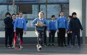 19 November 2020; Mia Ni Fhaolain-Nic Roibin during a Leinster Rugby kids training session at Gaelscoil Moshíológ in Gorey, Wexford. Photo by Matt Browne/Sportsfile
