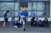 19 November 2020; Participants during a Leinster Rugby kids training session at Gaelscoil Moshíológ in Gorey, Wexford. Photo by Matt Browne/Sportsfile