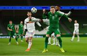 18 November 2020; Ronan Curtis of Republic of Ireland in action against Cicinho of Bulgaria during the UEFA Nations League B match between Republic of Ireland and Bulgaria at the Aviva Stadium in Dublin. Photo by Seb Daly/Sportsfile