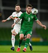 18 November 2020; Ryan Manning of Republic of Ireland in action against Spas Delev of Bulgaria during the UEFA Nations League B match between Republic of Ireland and Bulgaria at the Aviva Stadium in Dublin. Photo by Sam Barnes/Sportsfile