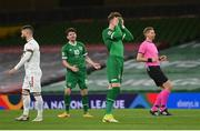 18 November 2020; Ronan Curtis of Republic of Ireland reacts after a missed opportunity on goal during the UEFA Nations League B match between Republic of Ireland and Bulgaria at the Aviva Stadium in Dublin. Photo by Stephen McCarthy/Sportsfile