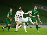 18 November 2020; Shane Duffy of Republic of Ireland in action against Kristiyan Malinov of Bulgaria during the UEFA Nations League B match between Republic of Ireland and Bulgaria at the Aviva Stadium in Dublin. Photo by Seb Daly/Sportsfile