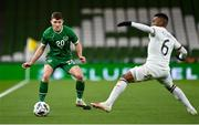 18 November 2020; Dara O'Shea of Republic of Ireland in action against Cicinho of Bulgaria during the UEFA Nations League B match between Republic of Ireland and Bulgaria at the Aviva Stadium in Dublin. Photo by Seb Daly/Sportsfile