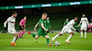 18 November 2020; Daryl Horgan of Republic of Ireland in action against GalinIvanov, left, and Cicinho of Bulgaria during the UEFA Nations League B match between Republic of Ireland and Bulgaria at the Aviva Stadium in Dublin. Photo by Seb Daly/Sportsfile