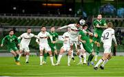 18 November 2020; Dara O'Shea of Republic of Ireland in action against AleksandarVasilev of Bulgaria during the UEFA Nations League B match between Republic of Ireland and Bulgaria at the Aviva Stadium in Dublin. Photo by Seb Daly/Sportsfile