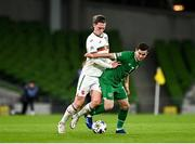 18 November 2020; Josh Cullen of Republic of Ireland in action against Bozhidar Kraev of Bulgaria during the UEFA Nations League B match between Republic of Ireland and Bulgaria at the Aviva Stadium in Dublin. Photo by Seb Daly/Sportsfile
