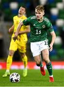 18 November 2020; Alistair McCann of Northern Ireland during the UEFA Nations League B match between Northern Ireland and Romania in the National Football Stadium at Windsor Park in Belfast. Photo by David Fitzgerald/Sportsfile