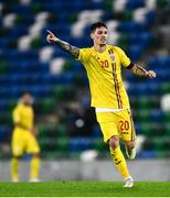 18 November 2020; Dennis Man of Romania during the UEFA Nations League B match between Northern Ireland and Romania in the National Football Stadium at Windsor Park in Belfast. Photo by David Fitzgerald/Sportsfile