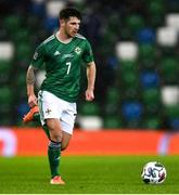 18 November 2020; Matthew Kennedy of Northern Ireland during the UEFA Nations League B match between Northern Ireland and Romania in the National Football Stadium at Windsor Park in Belfast. Photo by David Fitzgerald/Sportsfile