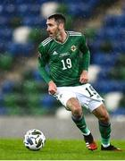 18 November 2020; Michael Smith of Northern Ireland during the UEFA Nations League B match between Northern Ireland and Romania in the National Football Stadium at Windsor Park in Belfast. Photo by David Fitzgerald/Sportsfile