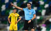 18 November 2020; Referee Sandro Schärer during the UEFA Nations League B match between Northern Ireland and Romania in the National Football Stadium at Windsor Park in Belfast. Photo by David Fitzgerald/Sportsfile