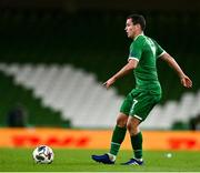 18 November 2020; Josh Cullen of Republic of Ireland during the UEFA Nations League B match between Republic of Ireland and Bulgaria at the Aviva Stadium in Dublin. Photo by Sam Barnes/Sportsfile