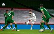 18 November 2020; DimitarIliev of Bulgaria has a shot at goal during the UEFA Nations League B match between Republic of Ireland and Bulgaria at the Aviva Stadium in Dublin. Photo by Sam Barnes/Sportsfile