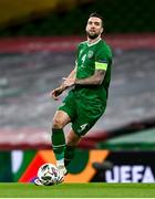 18 November 2020; Shane Duffy of Republic of Ireland during the UEFA Nations League B match between Republic of Ireland and Bulgaria at the Aviva Stadium in Dublin. Photo by Sam Barnes/Sportsfile