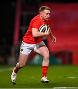 26 October 2020; Rory Scannell of Munster during the Guinness PRO14 match between Munster and Cardiff Blues at Thomond Park in Limerick. Photo by Ramsey Cardy/Sportsfile
