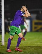 20 November 2020; Danny Lafferty of Shamrock Rovers reacts after a missed chance on goal during the Extra.ie FAI Cup Quarter-Final match between Finn Harps and Shamrock Rovers at Finn Park in Ballybofey, Donegal. Photo by Seb Daly/Sportsfile