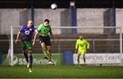 20 November 2020; Joey O'Brien of Shamrock Rovers in action against Mark Russell of Finn Harps during the Extra.ie FAI Cup Quarter-Final match between Finn Harps and Shamrock Rovers at Finn Park in Ballybofey, Donegal. Photo by Seb Daly/Sportsfile