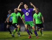 20 November 2020; Aaron McEneff of Shamrock Rovers reacts after missing a penalty during the Extra.ie FAI Cup Quarter-Final match between Finn Harps and Shamrock Rovers at Finn Park in Ballybofey, Donegal. Photo by Seb Daly/Sportsfile