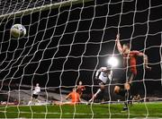 20 November 2020; Nathan Oduwa of Dundalk scores his side's fourth goal during the Extra.ie FAI Cup Quarter-Final match between Bohemians and Dundalk at Dalymount Park in Dublin. Photo by Stephen McCarthy/Sportsfile